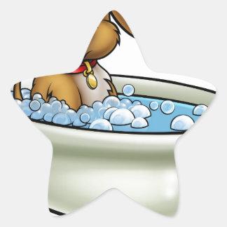 Chien dans la bande dessinée de Bath Sticker Étoile