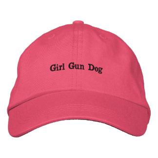 Chien d'arme à feu de fille casquette brodée