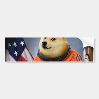 chien d'astronaute - doge - shibe - memes de doge autocollant pour voiture