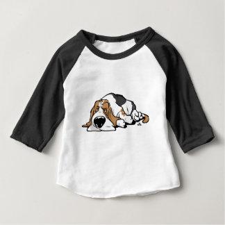 Chien de bande dessinée de Basset Hound T-shirt Pour Bébé