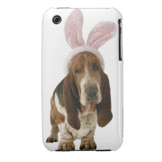 Chien de basset avec des oreilles de lapin coque iPhone 3