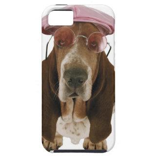 Chien de basset dans les lunettes de soleil et le coques Case-Mate iPhone 5