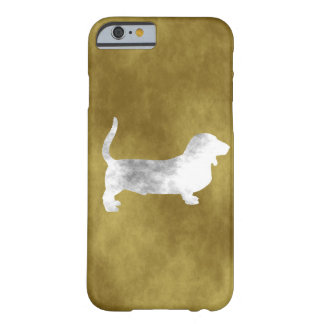 chien de basset grunge coque iPhone 6 barely there