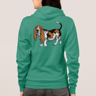 chien de basset veste à capuche