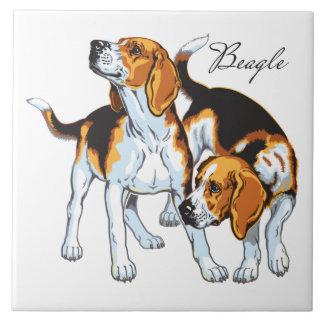 chien de beagle grand carreau carré