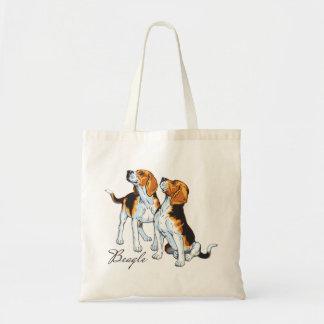 chien de beagle sac en toile budget