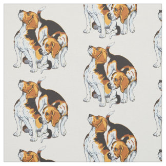 tissu chiens personnalisable pour loisirs cr atifs zazzle. Black Bedroom Furniture Sets. Home Design Ideas
