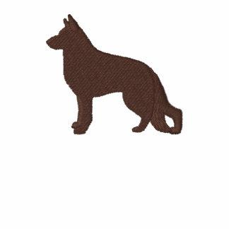 Chien de berger allemand avec la patte de l'arrièr polo brodé