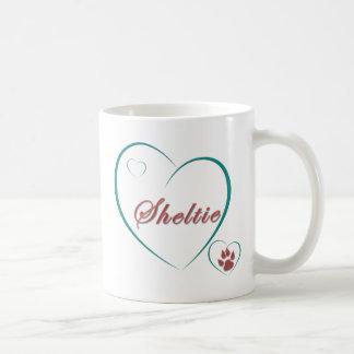 Chien de berger de Shetland : Coeurs d'amour de Mug