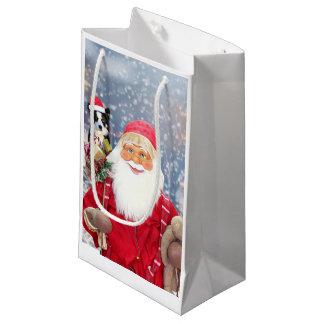 Chien de border collie de cadeaux de Noël du père Petit Sac Cadeau