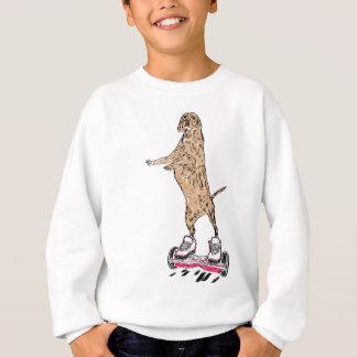 Chien de Brown sur Hoverboard Sweatshirt