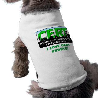 Chien de CERT chemise-blanc T-shirt Pour Chien
