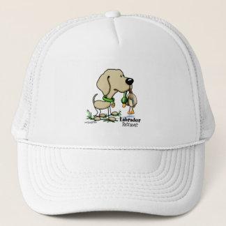 Chien de chasse - casquette jaune de labrador