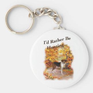 chien de chasse de chasse porte-clé rond