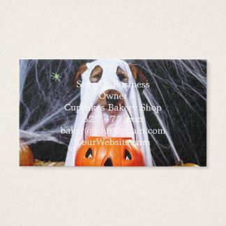 Chien de fantôme - chien drôle - poursuivez cartes de visite