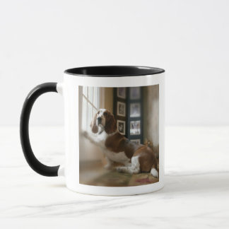 Chien de fenêtre mug