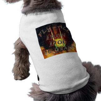 Chien de fer de Flamz Flyball - 10 ans de T-shirt Pour Chien