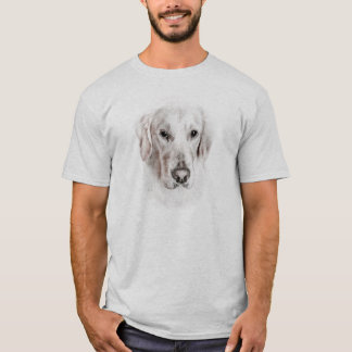 Chien de golden retriever t-shirt