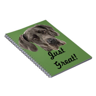 Chien de great dane carnets à spirale