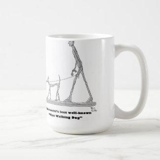 Chien de marche d'homme mug