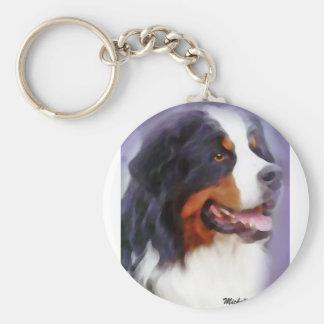 chien de montagne bernese porte-clé rond
