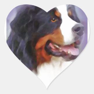chien de montagne bernese sticker cœur