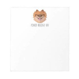 Chien de Pomeranian en verres nerd | Blocs Notes
