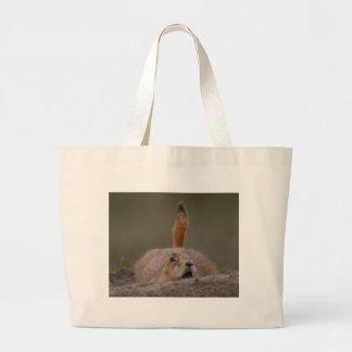 chien de prairie sac fourre-tout