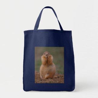 Chien de prairie sac en toile épicerie