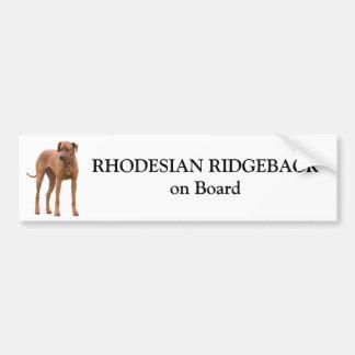 Chien de Rhodesian Ridgeback à bord d'autocollant  Autocollant De Voiture