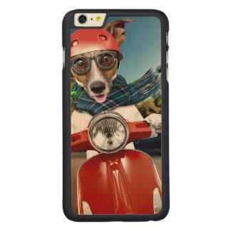 Chien de scooter, cric Russell Coque Carved® En Érable Pour iPhone 6 Plus Case