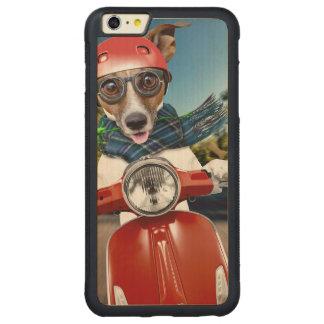 Chien de scooter, cric Russell Coque Carved® Pare-chocs En Érable Pour iPhone 6 P