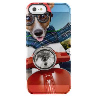 Chien de scooter, cric Russell Coque iPhone Clear SE/5/5s
