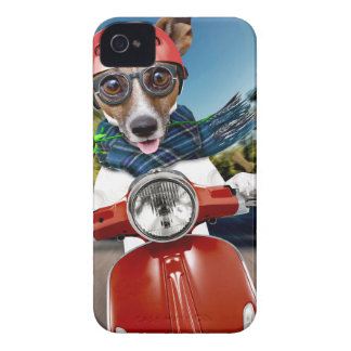 Chien de scooter, cric Russell Coques Case-Mate iPhone 4
