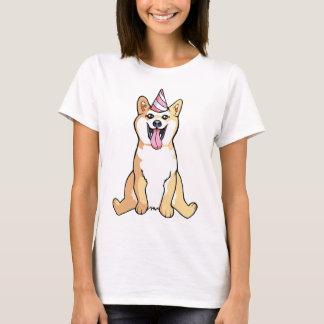 Chien de Shiba Inu dessinant la chemise de la T-shirt