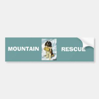 Chien de St Bernard, délivrance de montagne Autocollant Pour Voiture