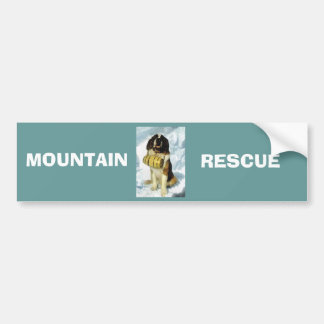 Chien de St Bernard délivrance de montagne Adhésif Pour Voiture
