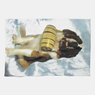 Chien de St Bernard, délivrance de montagne Serviettes Éponge