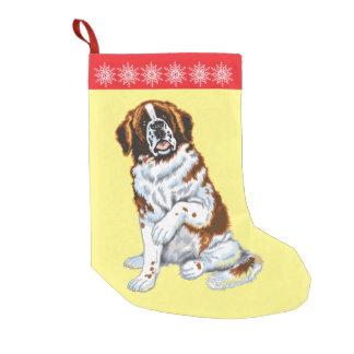 chien de St Bernard Petite Chaussette De Noël