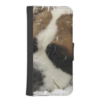 Chien de St Bernard Coque Avec Portefeuille Pour iPhone 5