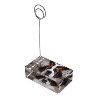 Chien de St Bernard Porte-cartes De Table