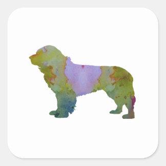 Chien de Terre-Neuve Sticker Carré