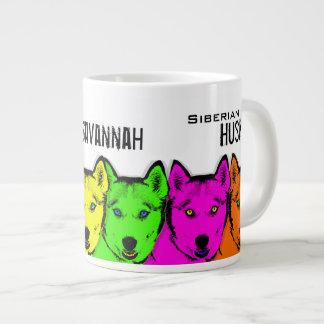 Chien de traîneau sibérien personnalisé d'art de mug