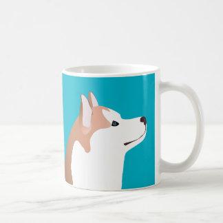 Chien de traîneau sibérien - rouge - conception de mug
