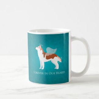 Chien de traîneau sibérien - rouge - conception mug