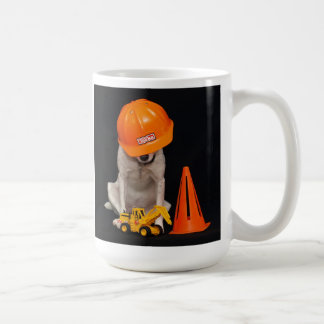 Chien de travailleur de la construction mug