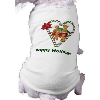 Chien de vacances de Noël de bonhommes en pain T-shirt Pour Chien