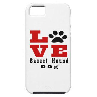 Chien Designes de Basset Hound d'amour Coque Tough iPhone 5