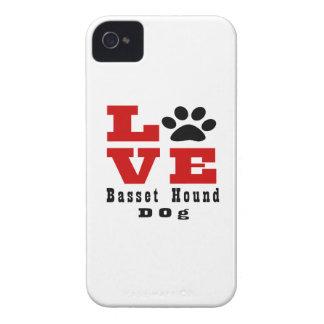Chien Designes de Basset Hound d'amour Coques Case-Mate iPhone 4