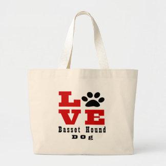 Chien Designes de Basset Hound d'amour Grand Sac